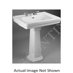 Toto® LT530.8#01 Promenade® Transitional Lavatory Only With Rear Overflow, Rectangular, 8 in Faucet Hole Spacing, 27-1/2 in W x 22-1/4 in D, Wall-Hung Mount, Vitreous China, Cotton