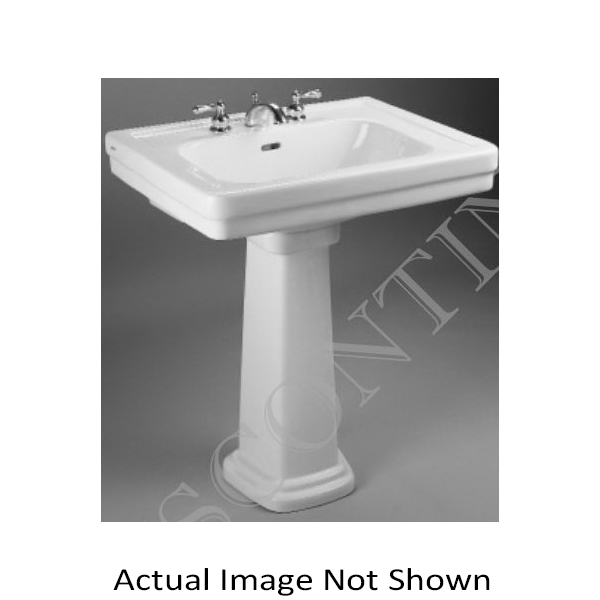 Toto® LT530.4#03 Promenade® Transitional Lavatory Only With Rear Overflow, Rectangular, 4 in Faucet Hole Spacing, 27-1/2 in W x 22-1/4 in D, Wall-Hung Mount, Vitreous China, Bone