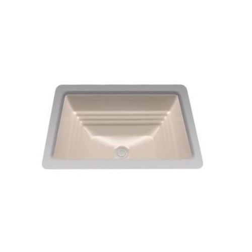 Toto® LT533#03 Promenade® Lavatory Sink With Rear Overflow, Rectangular, 20-1/2 in W x 16-1/2 in D, Undercounter Mount, Vitreous China, Bone