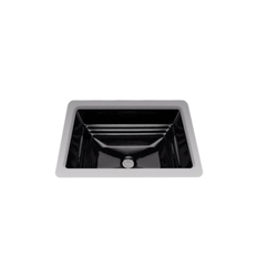 Toto® LT533#51 Promenade® Lavatory Sink With Rear Overflow, Rectangular, 20-1/2 in W x 16-1/2 in D, Undercounter Mount, Vitreous China, Ebony