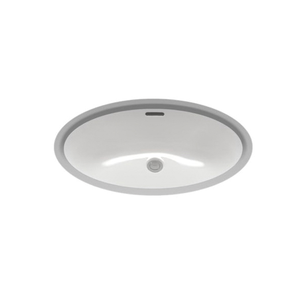 Toto® LT548G#01 Lavatory Sink With Rear Overflow, Oval, 23-5/8 in W x 16-1/2 in D, Undercounter Mount, Vitreous China, Cotton