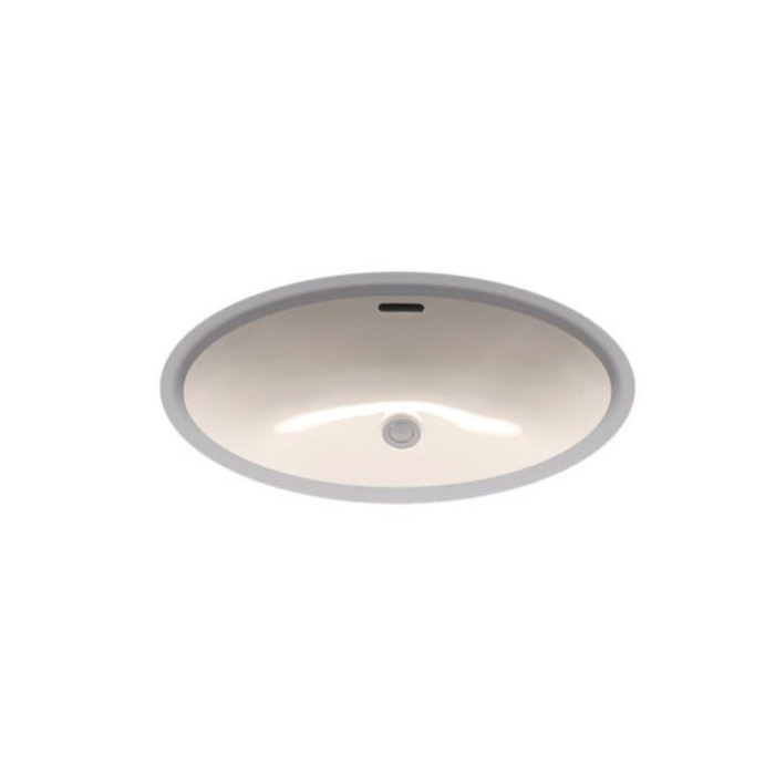 Toto® LT548G#12 Lavatory Sink With Rear Overflow, Oval, 23-5/8 in W x 16-1/2 in D, Undercounter Mount, Vitreous China, Sedona Beige