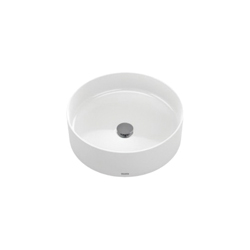 Toto® LT572#01 Arvina™ Vessel Lavatory Without Overflow, Round, 15-3/4 in W x 15-3/4 in D, Vitreous China, Cotton