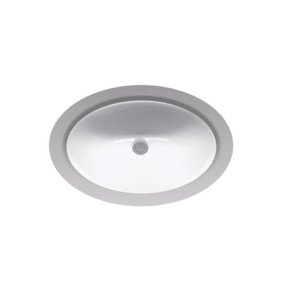 Toto® LT579G#11 Rendezvous® Lavatory Sink With Consealed Front Overflow, Oval, 19-3/16 in W x 16-3/16 in D, Undercounter Mount, Vitreous China, Colonial White