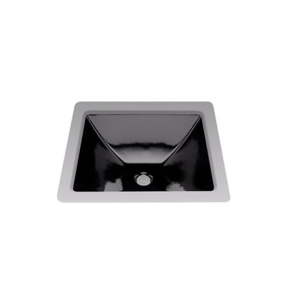 Toto® LT624#51 Legato™ Lavatory Sink With Rear Overflow, Rectangular, 19 in W x 17 in D, Undercounter Mount, Vitreous China, Ebony, Domestic