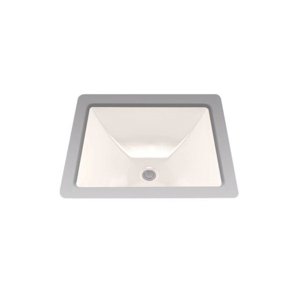 Toto® LT624G#12 Legato™ Lavatory Sink With Rear Overflow, Rectangular, 19 in W x 17 in D, Undercounter Mount, Vitreous China, Sedona Beige