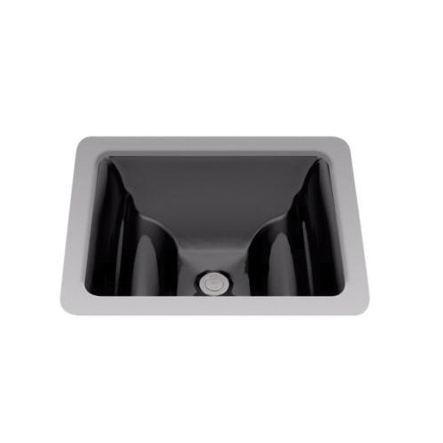 Toto® LT626#51 Aimes® Lavatory Sink With Rear Overflow, Rectangular, 19 in W x 17 in D, Undercounter Mount, Vitreous China, Ebony, Domestic