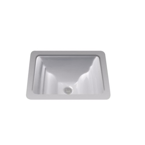 Toto® LT626G#11 Aimes® Lavatory Sink With Rear Overflow, Rectangular, 19 in W x 17 in D, Undercounter Mount, Vitreous China, Colonial White