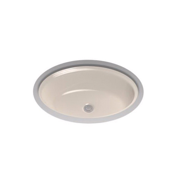 Toto® LT641#03 Dartmouth® Lavatory Sink With Front/Rear Overflow, Oval, 21-1/4 in W x 16-1/4 in D x 7-1/8 in H, Undercounter Mount, Vitreous China, Bone