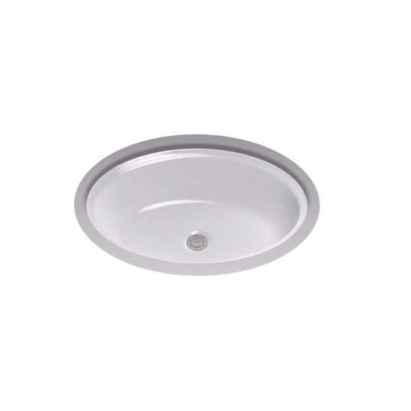 Toto® LT641#11 Dartmouth® Lavatory Sink With Front/Rear Overflow, Oval, 21-1/4 in W x 16-1/4 in D x 7-1/8 in H, Undercounter Mount, Vitreous China, Colonial White