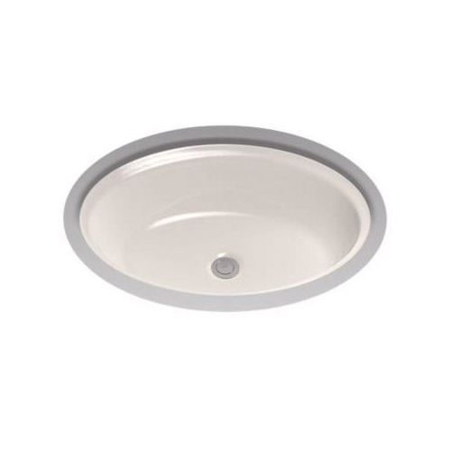 Toto® LT641#12 Dartmouth® Lavatory Sink With Front/Rear Overflow, Oval, 21-1/4 in W x 16-1/4 in D x 7-1/8 in H, Undercounter Mount, Vitreous China, Sedona Beige