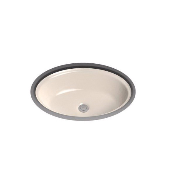 Toto® LT643#03 Dartmouth® Lavatory Sink With Front/Rear Overflow, Oval, 19-1/4 in W x 14-7/8 in D x 6-5/8 in H, Undercounter Mount, Vitreous China, Bone