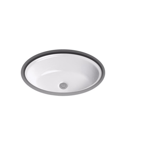 Toto® LT643#11 Dartmouth® Lavatory Sink With Front/Rear Overflow, Oval, 19-1/4 in W x 14-7/8 in D x 6-5/8 in H, Undercounter Mount, Vitreous China, Colonial White