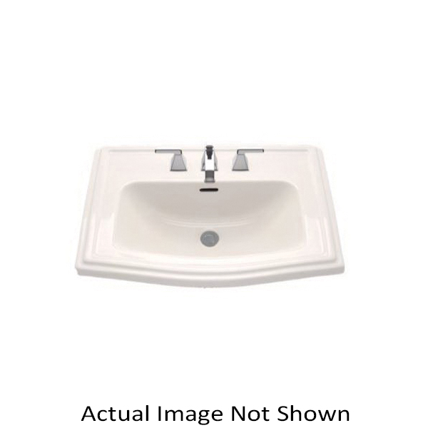 Toto® LT781#12 Clayton™ Self-Rimming Lavatory With Rear Overflow, Rectangular, 25 in W x 18-1/4 in D, Drop-In Mount, Vitreous China, Sedona Beige