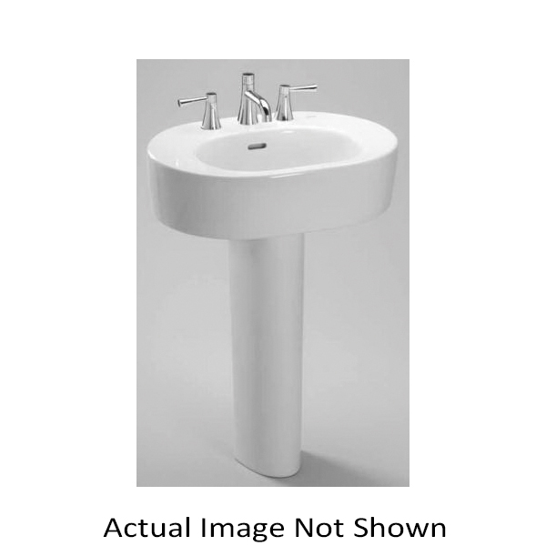Toto® LT790.8#03 Nexus® Contemporary Lavatory With Rear Overflow, Oval, 8 in Faucet Hole Spacing, 24 in W x 17-7/8 in D x 6-3/8 in H, Wall-Hung Mount, Vitreous China, Bone