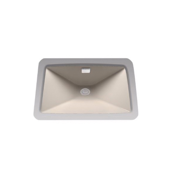 Toto® LT931#03 Lloyd™ Lavatory Sink With Rear Overflow, Rectangular, 23 in W x 16 in D, Undercounter Mount, Vitreous China, Bone