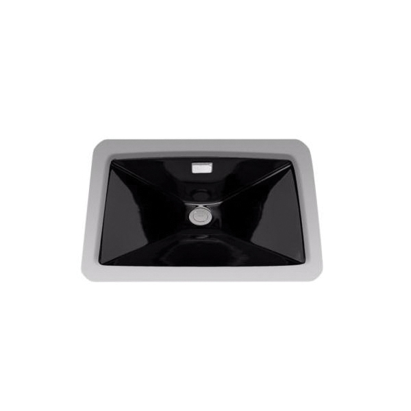 Toto® LT931#51 Lloyd™ Lavatory Sink With Rear Overflow, Rectangular, 23 in W x 16 in D, Undercounter Mount, Vitreous China, Ebony