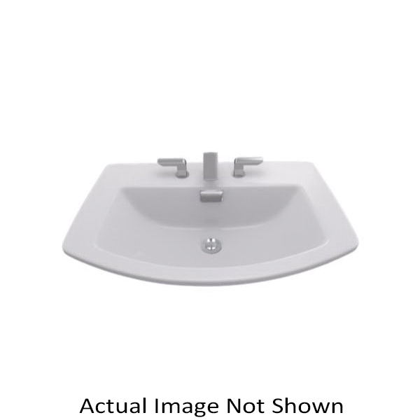 Toto® LT963#11 Soiree® Self-Rimming Lavatory With Rear Overflow, Rectangular, 27-1/2 in W x 18-7/8 in D x 7-1/4 in H, Drop-In Mount, Vitreous China, Colonial White