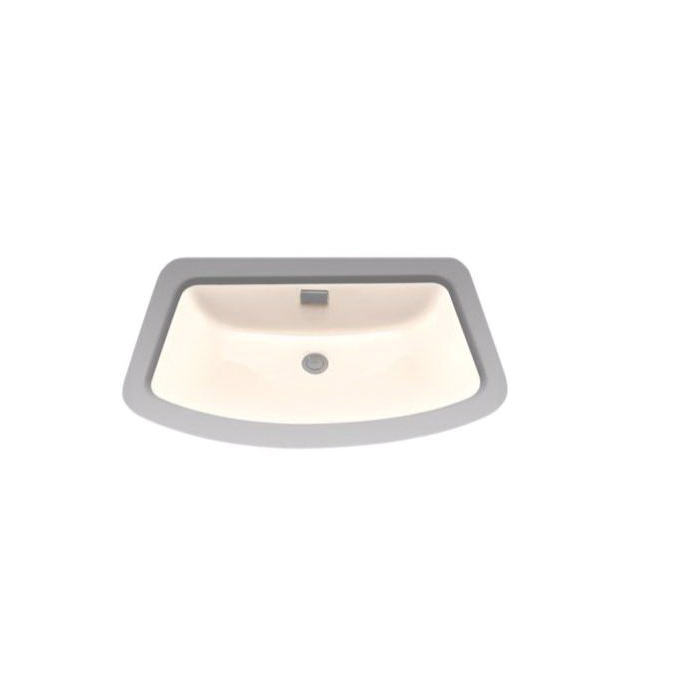 Toto® LT967#03 Soiree® Lavatory Sink With Rear Overflow, Rectangular, 27 in W x 16-3/8 in D, Undercounter Mount, Vitreous China, Bone