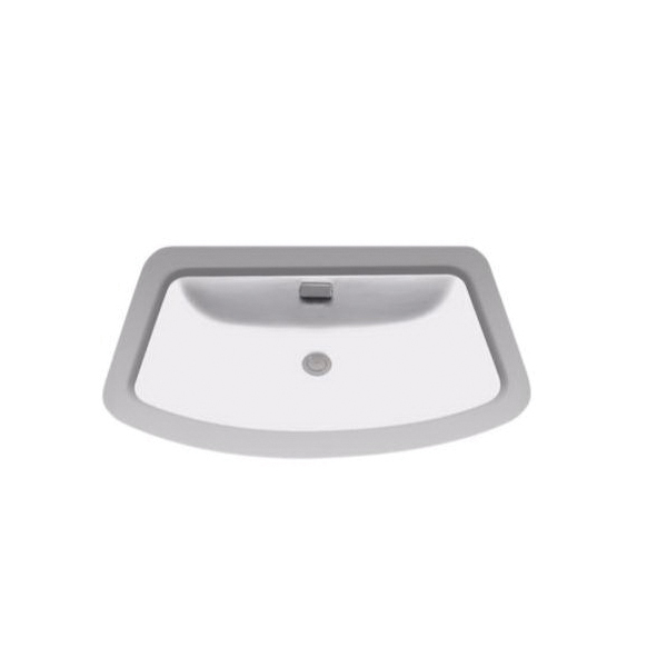 Toto® LT967#11 Soiree® Lavatory Sink With Rear Overflow, Rectangular, 27 in W x 16-3/8 in D, Undercounter Mount, Vitreous China, Colonial White
