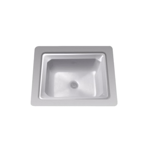 Toto® LT973G#11 Guinevere™ Lavatory Sink With Consealed Rear Overflow, Rectangular, 20-13/16 in W x 18-1/16 in D, Undercounter Mount, Vitreous China, Colonial White