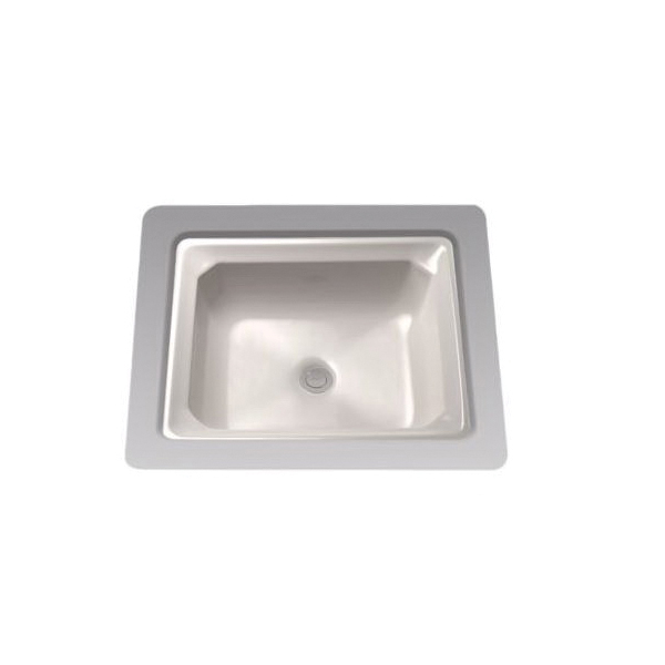 Toto® LT973G#12 Guinevere™ Lavatory Sink With Consealed Rear Overflow, Rectangular, 20-13/16 in W x 18-1/16 in D, Undercounter Mount, Vitreous China, Sedona Beige