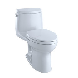Toto® UltraMax® II MS604114CEFG#01 One Piece Toilet, Elongated Front Bowl, 17-1/4 in H Rim, 1.28 gpf, Cotton, Domestic