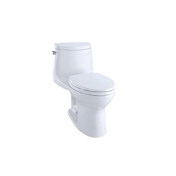 Toto® MS604114CUFG#01 UltraMax® II 1G® Universal Height One-Piece Toilet, Elongated Bowl, 17-1/4 in H Rim, 1 gpf, Cotton, Domestic