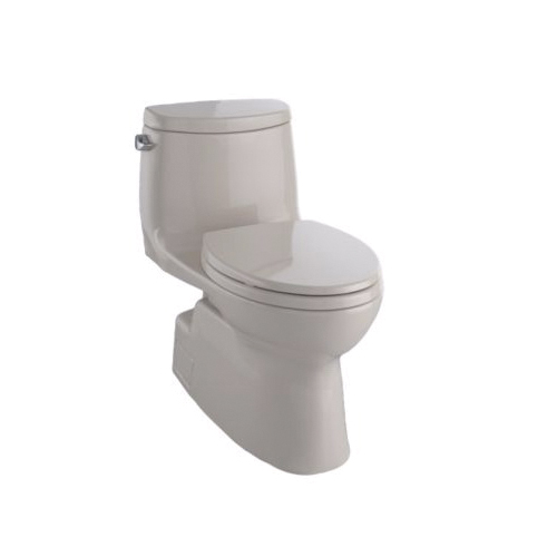 Toto® MS614114CEFG#03 Carlyle® II Universal Height One-Piece Toilet, Elongated Bowl, 17-1/4 in H Rim, 1.28 gpf, Bone, Domestic