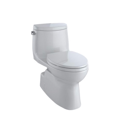 Toto® MS614114CEFG#11 Carlyle® II Universal Height One-Piece Toilet, Elongated Bowl, 17-1/4 in H Rim, 1.28 gpf, Colonial White, Domestic
