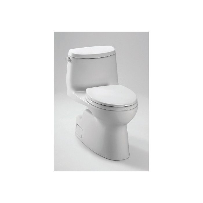 Toto® MS614114CEFRG#01 Carlyle® II High Efficiency One-Piece Toilet With Right-Hand Trip Lever, Elongated Bowl, 17-1/4 in H Rim, 1.28 gpf, Cotton, Domestic