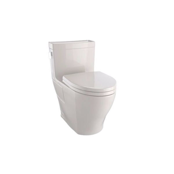 Toto® MS624214CEFG#03 Legato™ Universal Height One-Piece Toilet, Elongated Bowl, 17-1/4 in H Rim, 1.28 gpf, Bone, Domestic