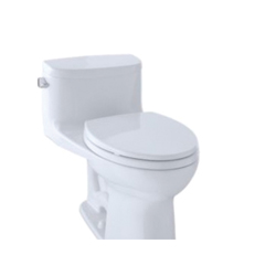 Toto® MS634114CEFG#01 Supreme® II Universal Height One-Piece Toilet, Elongated Bowl, 17-1/4 in H Rim, 1.28 gpf, Cotton, Domestic