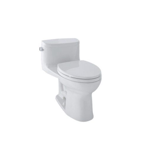 Toto® MS634114CEFG#11 Supreme® II Universal Height One-Piece Toilet, Elongated Bowl, 17-1/4 in H Rim, 1.28 gpf, Colonial White, Domestic