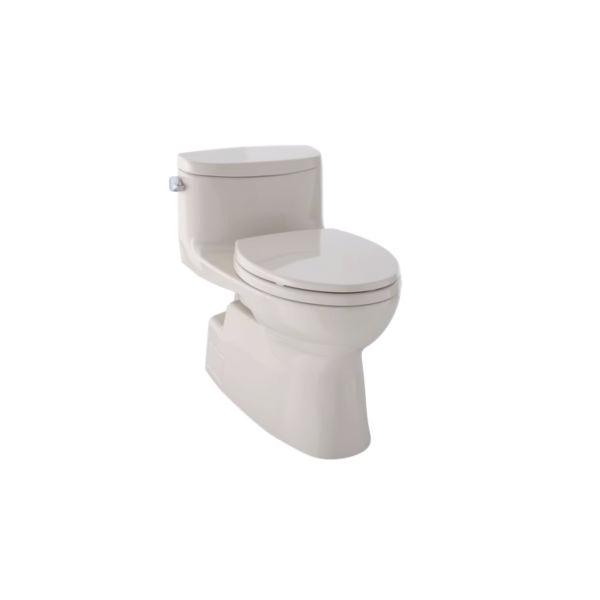 Toto® MS644114CEFG#03 Carolina® II Universal Height One-Piece Toilet, Elongated Bowl, 17-1/4 in H Rim, 1.28 gpf, Bone, Domestic