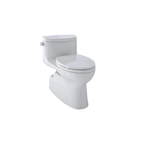 Toto® MS644114CEFG#11 Carolina® II Universal Height One-Piece Toilet, Elongated Bowl, 17-1/4 in H Rim, 1.28 gpf, Colonial White, Domestic