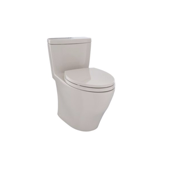 Toto® MS654114MF#03 Aquia® Universal Height One-Piece Toilet, Elongated Bowl, 17-1/4 in H Rim, 0.9/1.6 gpf, Bone, Domestic