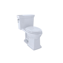Toto® MS814224CEFG#01 Promenade® II High Efficiency One-Piece Toilet With Left-Hand Chrome Trip Lever, Elongated Bowl, 17-1/4 in H Rim, 1.28 gpf, Cotton, Domestic