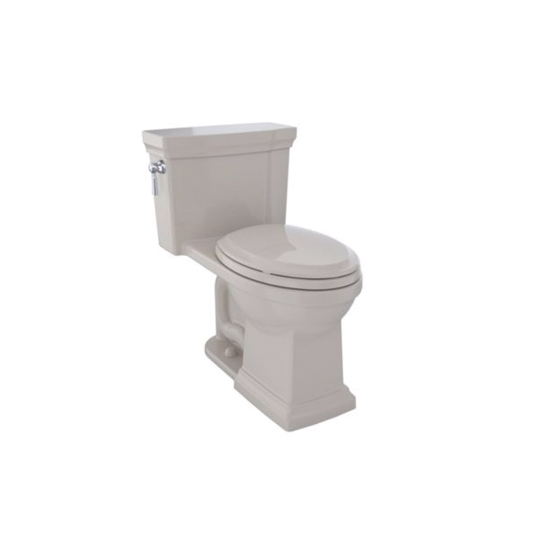Toto® MS814224CUFG#03 Promenade® II 1G® Universal Height One-Piece Toilet With Left-Hand Chrome Trip Lever, Elongated Bowl, 17-1/4 in H Rim, 1 gpf, Bone, Domestic