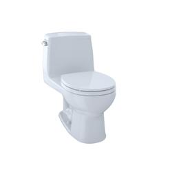 Toto® MS853113E#01 Eco UltraMax® One-Piece Toilet, Round Bowl, 15-11/16 in H Rim, 1.28 gpf, Cotton, Domestic