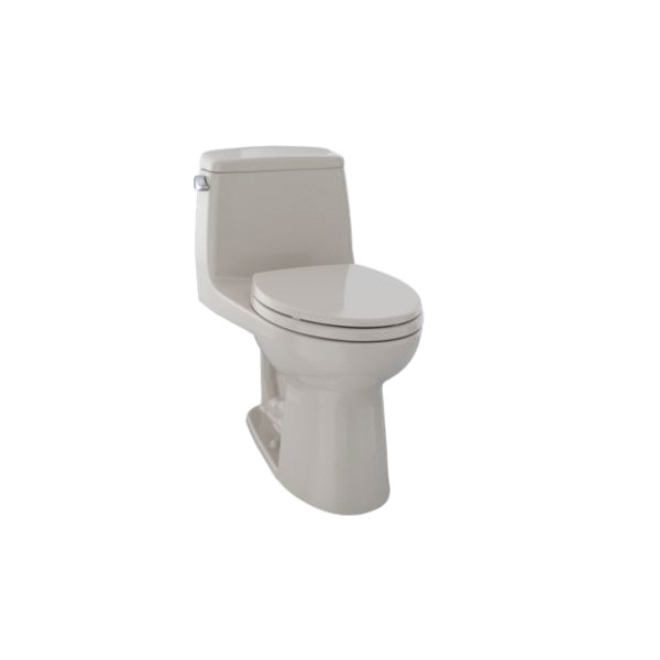 Toto® MS854114EL#03 Eco UltraMax® One-Piece Toilet With Left-Hand Chrome Trip Lever, Elongated Bowl, 17-11/16 in H Rim, 1.28 gpf, Bone, Domestic