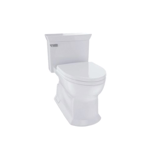 Toto® MS964214CEFG#11 Eco Soiree® Universal Height One-Piece Toilet, Elongated Bowl, 17-3/8 in H Rim, 1.28 gpf, Colonial White, Domestic