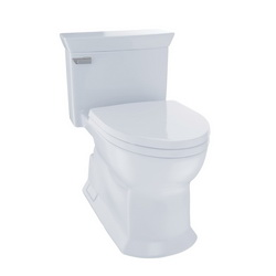 Toto® MS964214CEFG#01 Eco Soiree® One Piece Toilet, Elongated Front Bowl, 17-3/8 in H Rim, 1.28 gpf, Cotton, Domestic