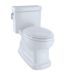 Toto® MS974224CEFG#01 Eco Guinevere® One Piece Toilet, Elongated Front Bowl, 17-5/16 in H Rim, 1.28 gpf, Cotton, Domestic