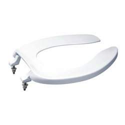 Toto® SC534#01 Elongated Toilet Seat Without Cover, Open Front, Polypropylene, Cotton