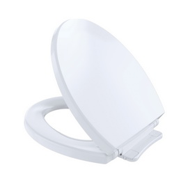 Toto® SoftClose® SS113#01 Toilet Seat With Cover, Round Bowl, Closed Front, Polypropylene, SoftClose® Seat Hinge, Cotton, Import