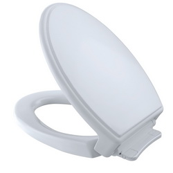 Toto® SoftClose® SS154#01 Traditional Elongated Toilet Seat With Cover, Closed Front, Polypropylene, Cotton, SoftClose® Seat Hinge, Import