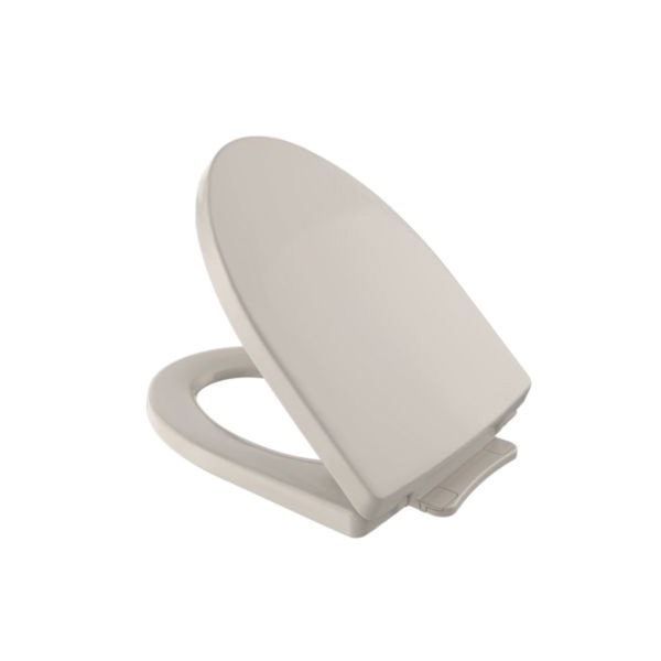 Toto® SS214#03 Soiree® Toilet Seat With Cover, Elongated Bowl, Closed Front, Polypropylene, Bone, SoftClose® Hinge, Import