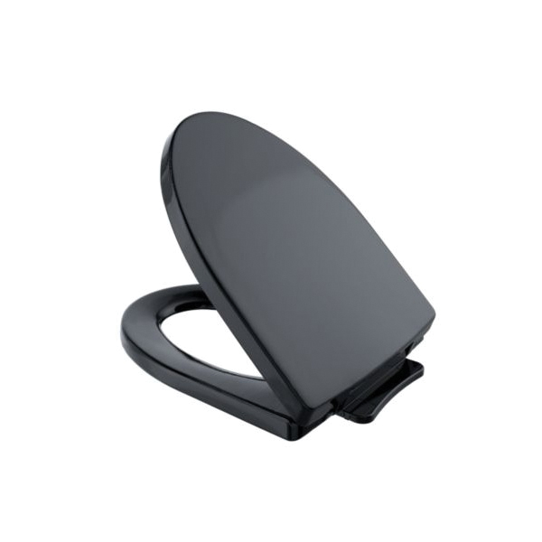 Toto® SS214#51 Soiree® Toilet Seat With Cover, Elongated Bowl, Closed Front, Polypropylene, Ebony, SoftClose® Hinge, Import