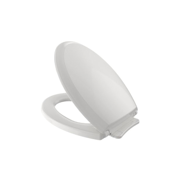 Toto® SS224#11 Guinevere™ Toilet Seat With Cover, Elongated Bowl, Closed Front, Polypropylene, Colonial White, SoftClose® Hinge
